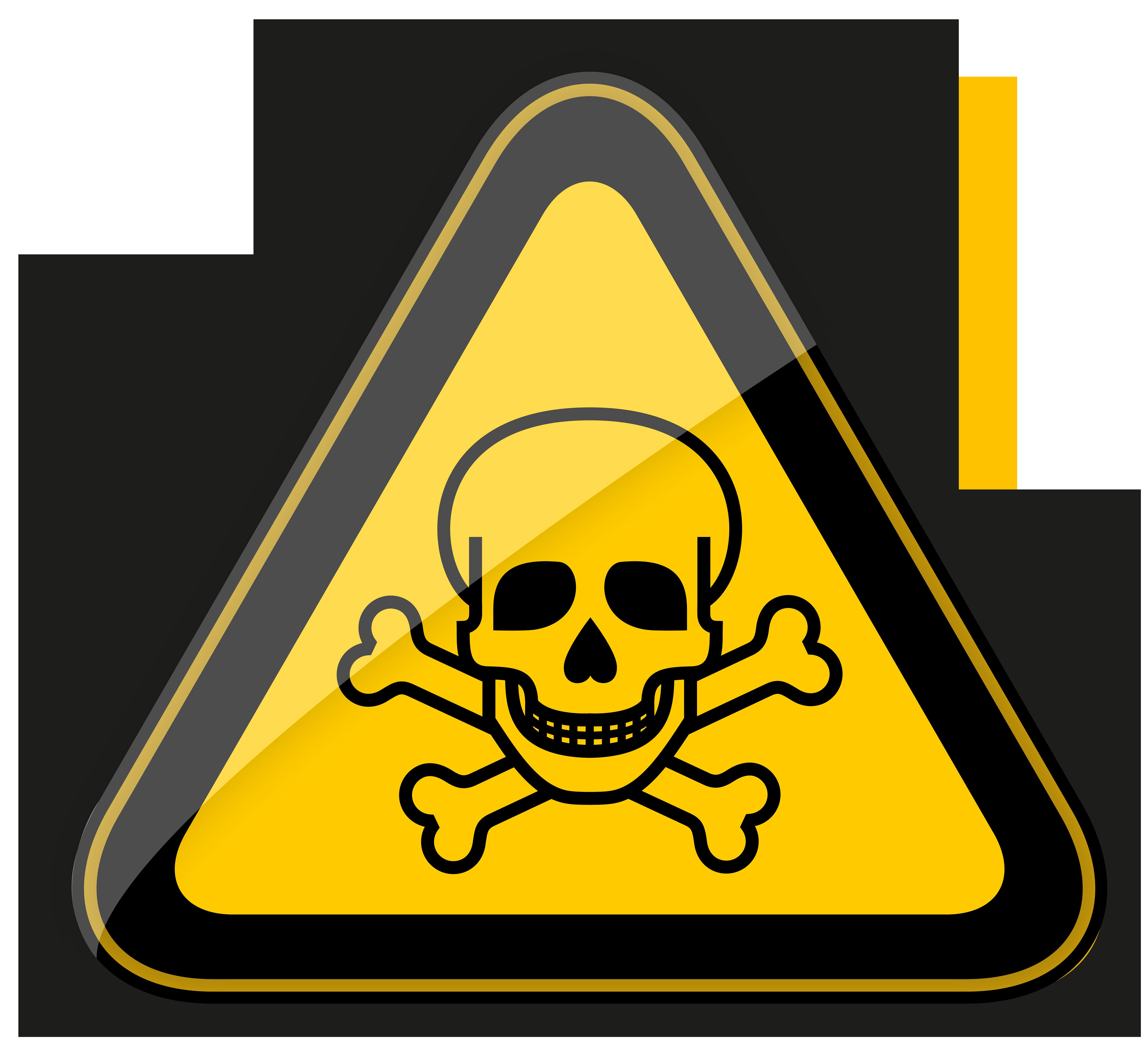 Pie clipart triangle. Toxic harmful warning symbol