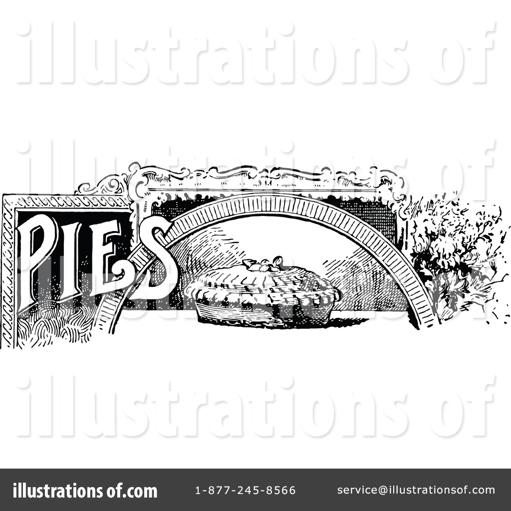 Pie clipart vintage. Illustration by prawny