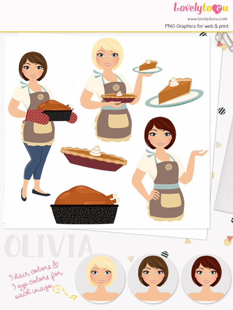 pie clipart woman baker