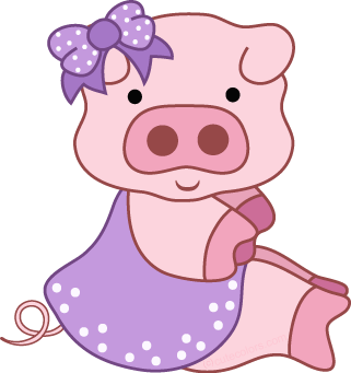 Free from www cutecolors. Pig clipart