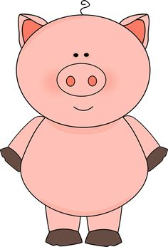 Pig clipart. Free from www cutecolors