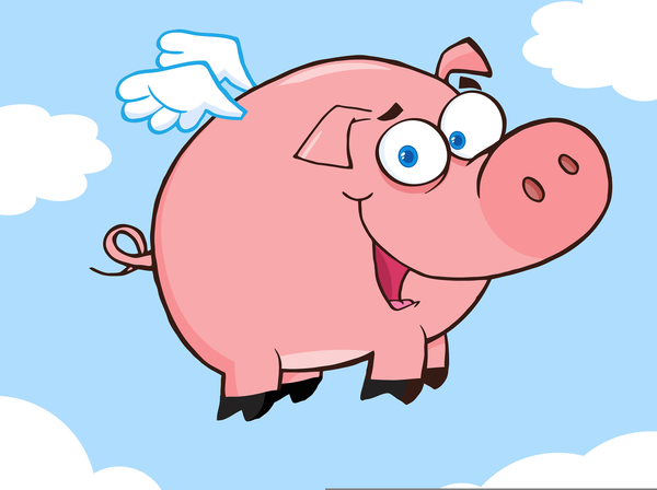 Flying free images at. Pig clipart animated
