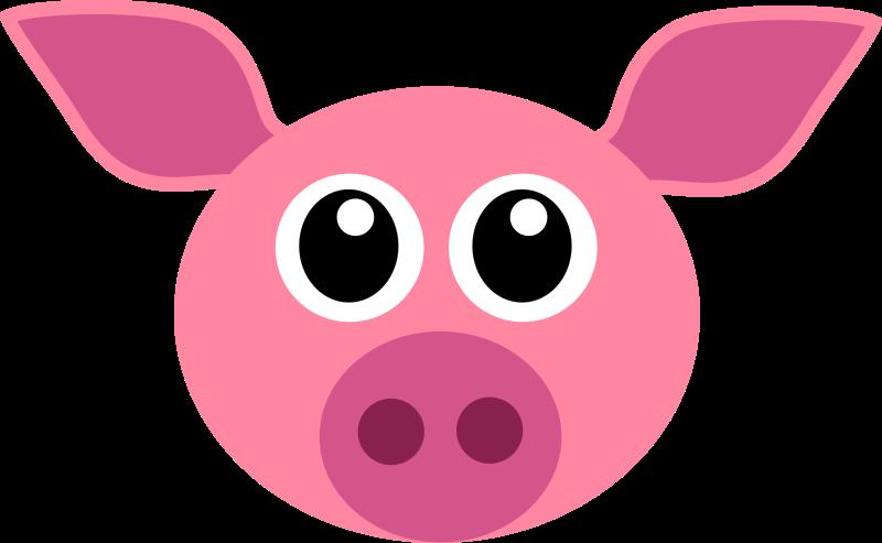 Head photo. Pig clipart cop