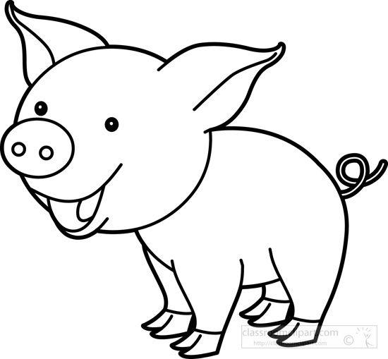 Pin by nelda mullins. Pig clipart line art