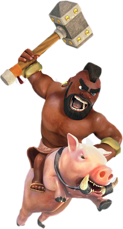 Popular and trending clash. Pig clipart muscular