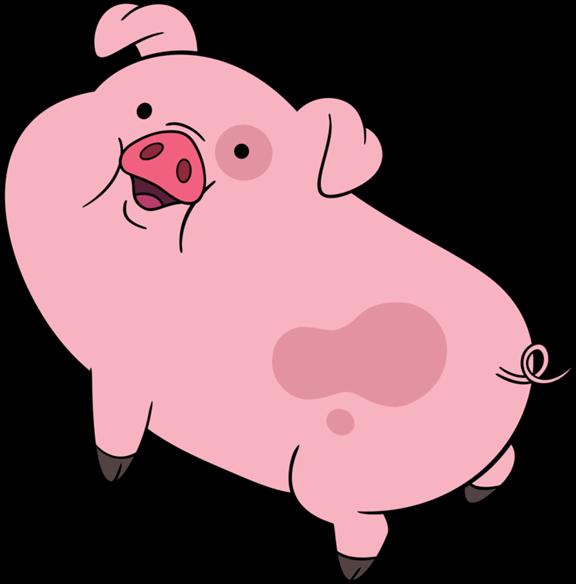 Cartoon characters gravity falls. Pig clipart muscular
