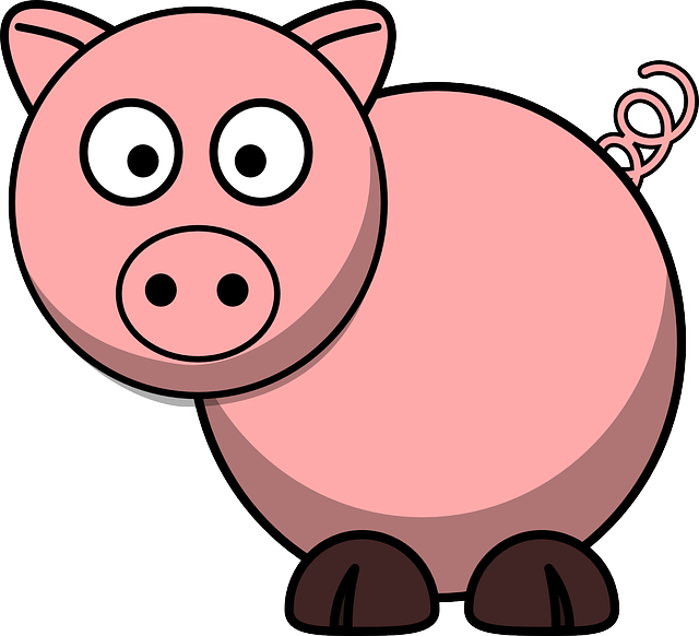 Free image on pixabay. Pig clipart overweight