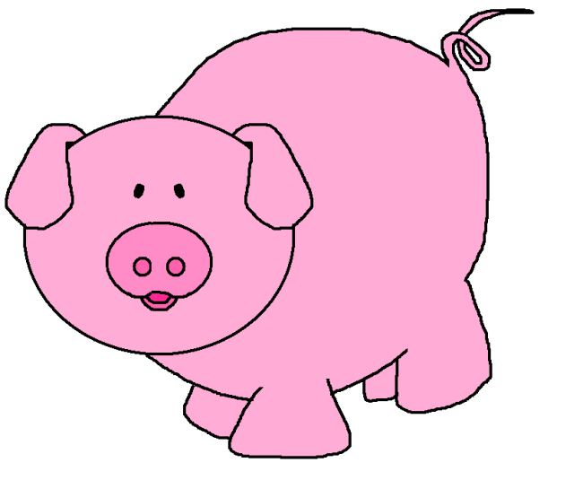 Calam o friends on. Pig clipart pink