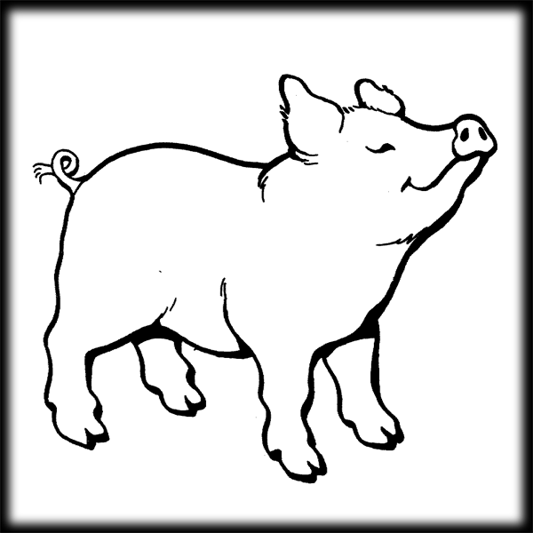 Pigs clipart printable. Pig images best coloring