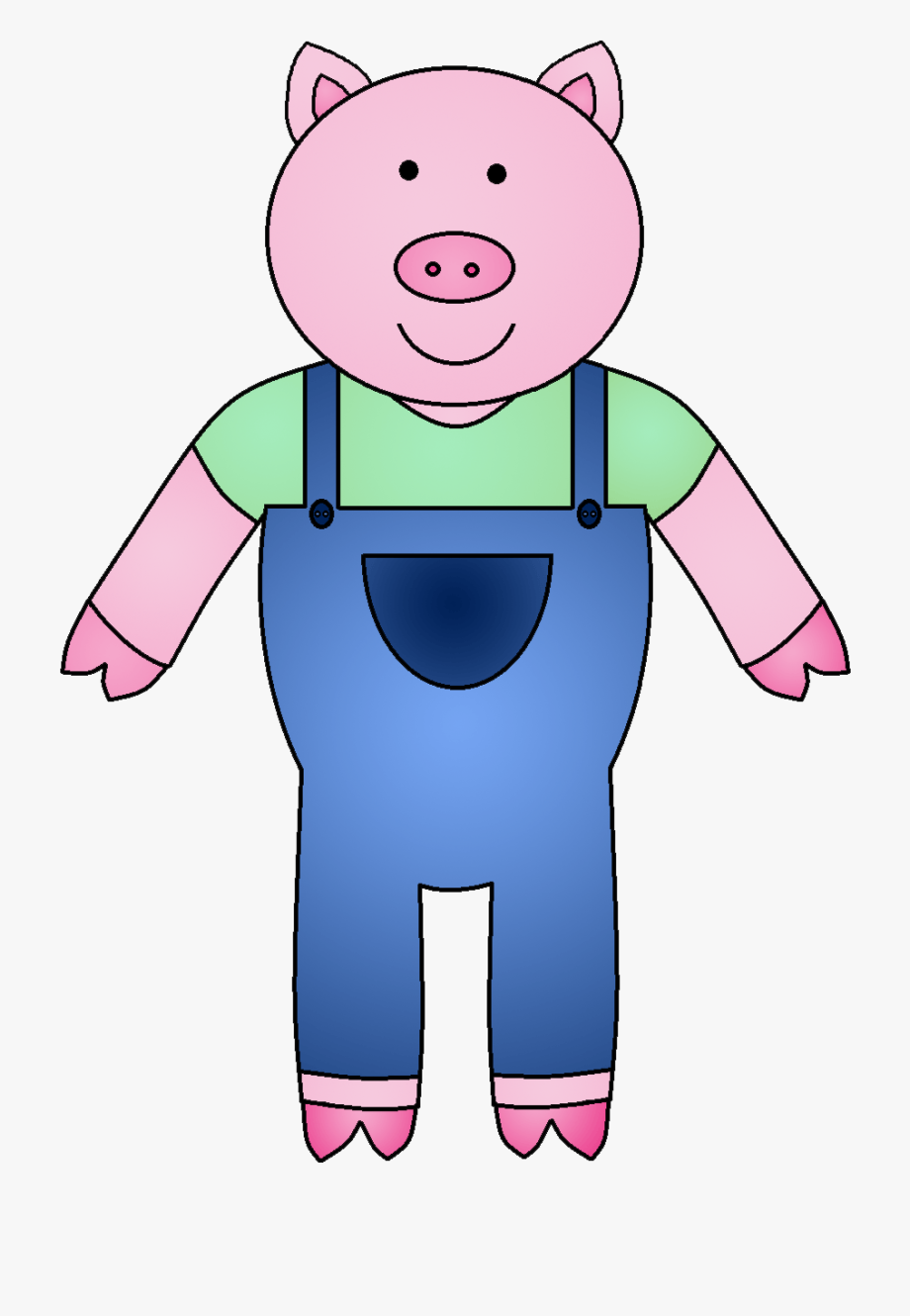 Pig clipart swimming. The three little pigs