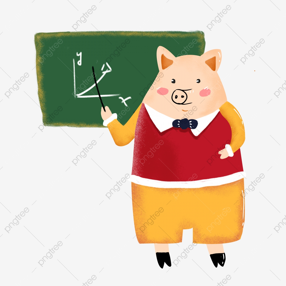Pig clipart teacher. The gave a lecture