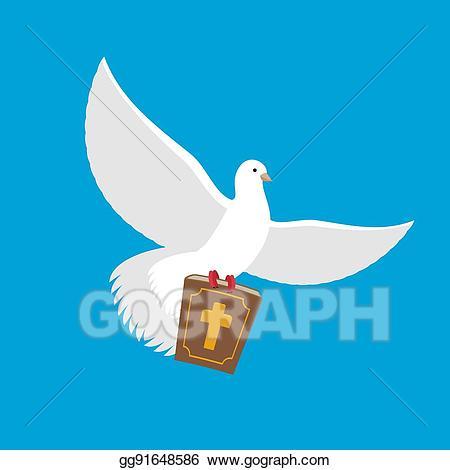 Eps illustration white dove. Pigeon clipart bible