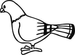Clip art panda free. Pigeon clipart black and white