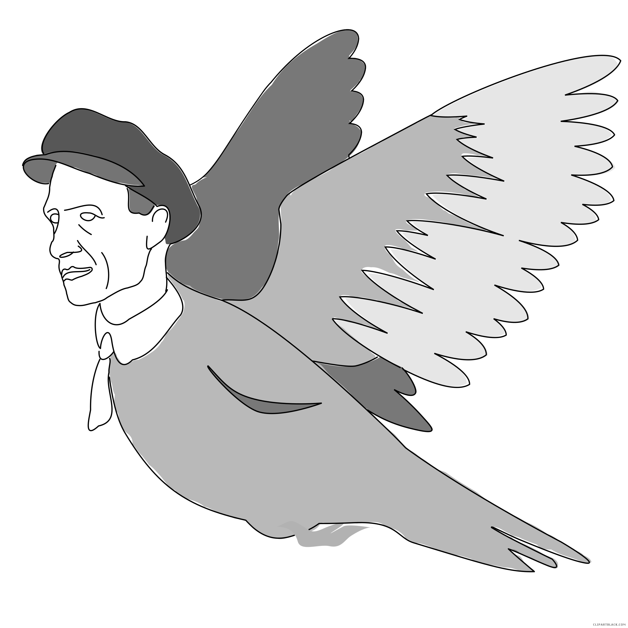 Clipartblack com animal free. Pigeon clipart black and white