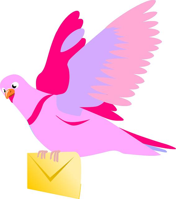 Pigeon clipart burung. Merpati dan surat istimewa