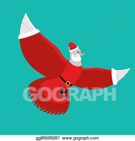 Pigeon clipart christmas. Vector art dove santa