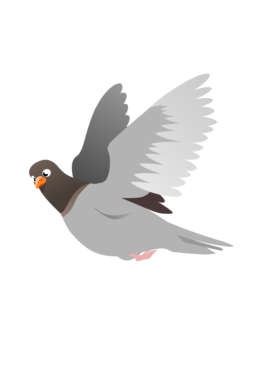 Wing clipart pigeon wing. Onlinelabels clip art a