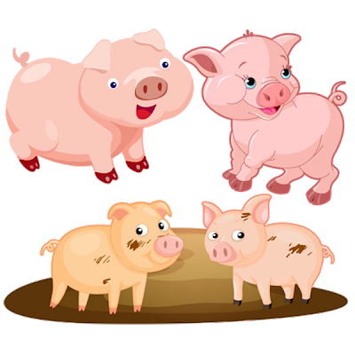 Pigs clipart. Cartoon pig image png