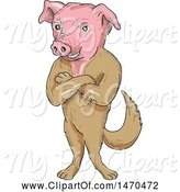 My pig royalty free. Pigs clipart body