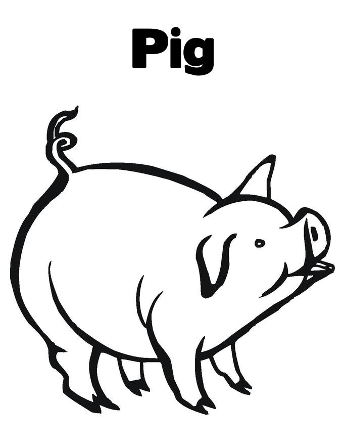 Pigs clipart printable. Free pictures of download