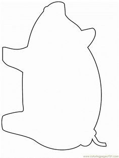 Pigs clipart template. Free printable of pig