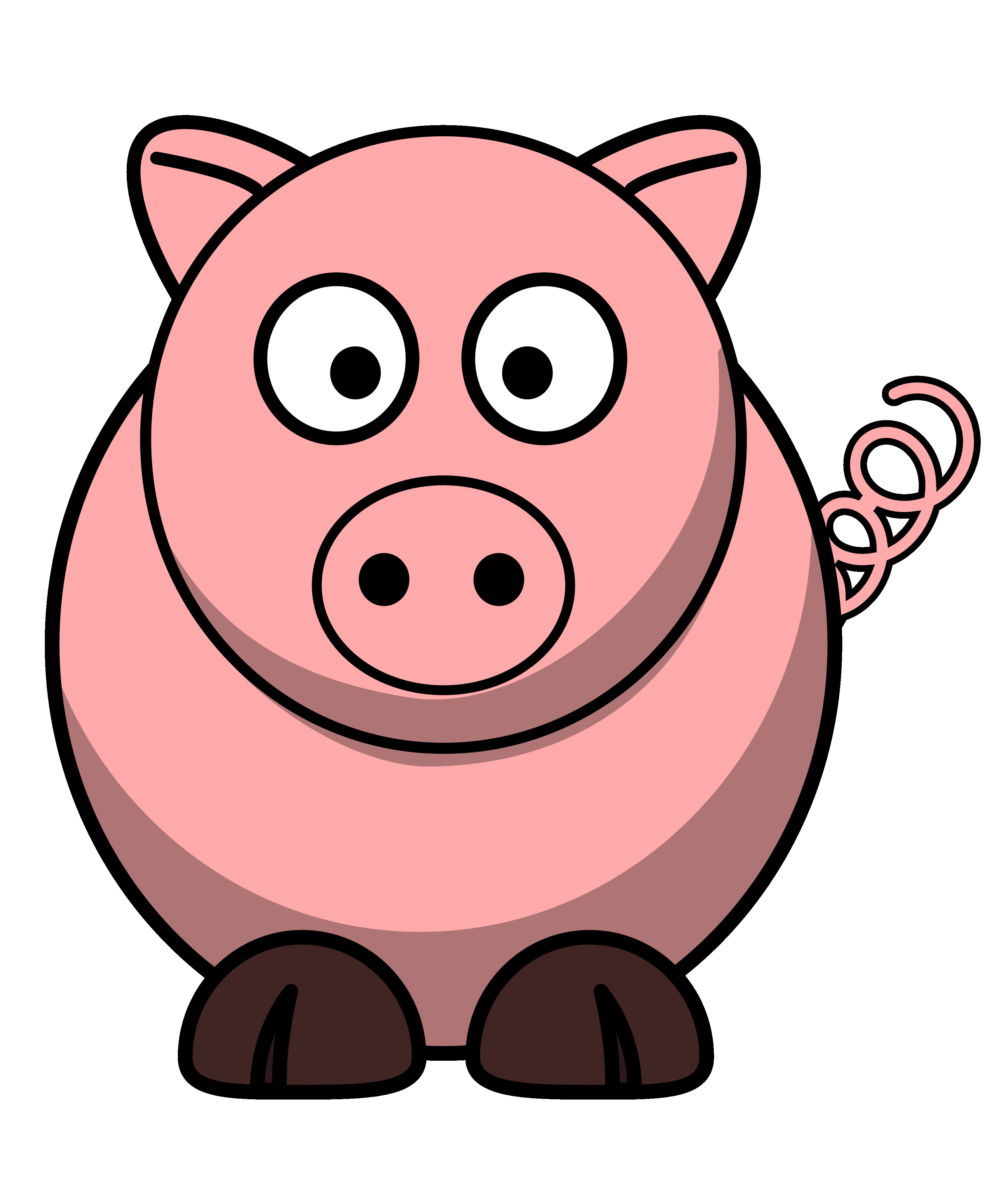 Pigs clipart. Pig clip art cartoon