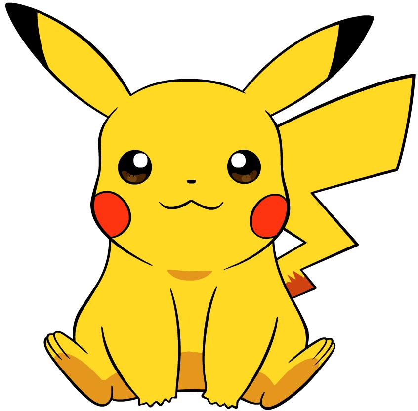Pikachu clipart. Pokemon international and build