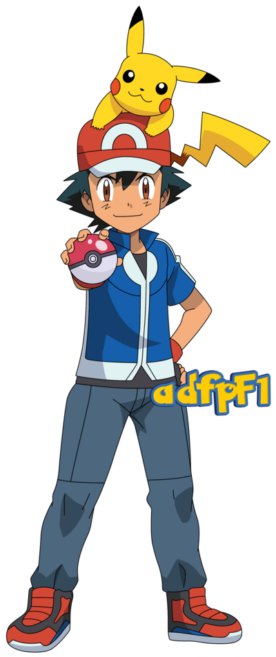 Pokeball clipart pokemon xy. Ash y pikachu by