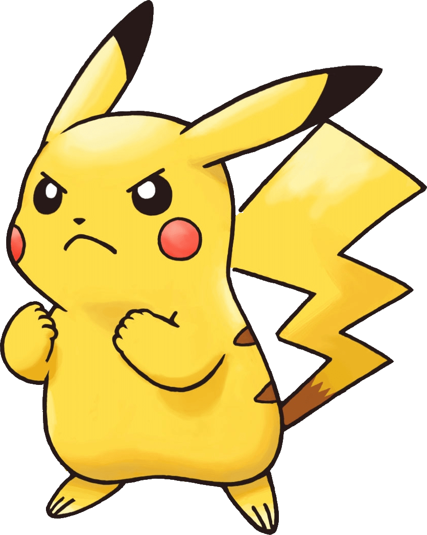 Angry Pikachu Pokemon transparent PNG