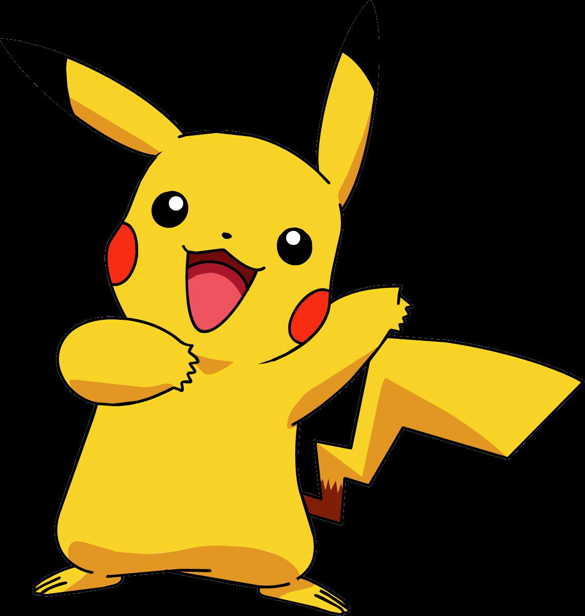 Pikachu transparent png stickpng. Pokemon clipart easy