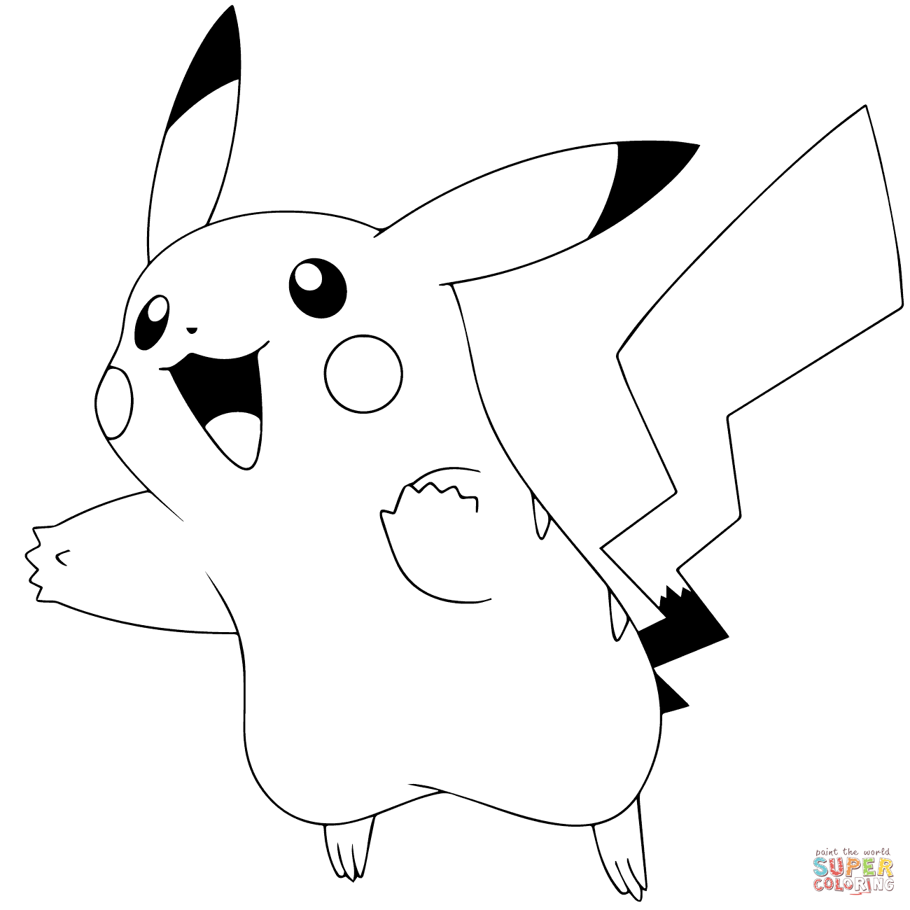 Pikachu Clipart Colouring Page Pikachu Colouring Page Transparent
