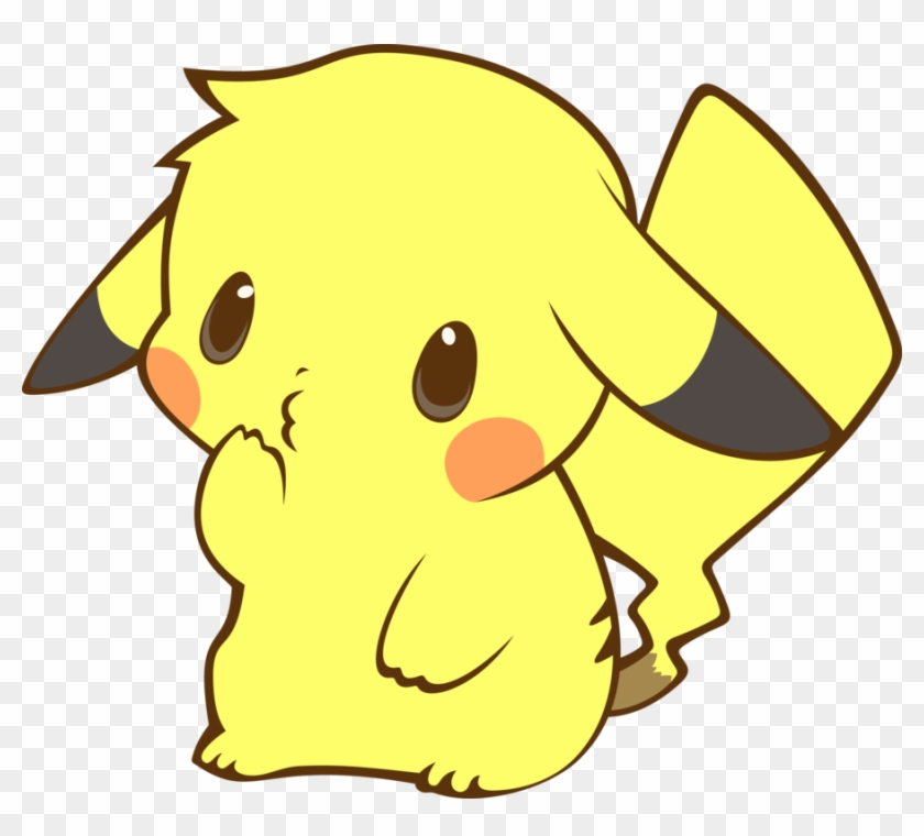 Png kawaii transparent . Pikachu clipart cute