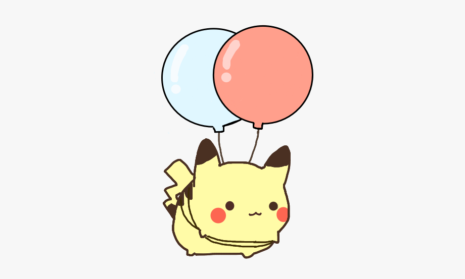 Pikachu clipart cute. Kawaii ballon pokemon no