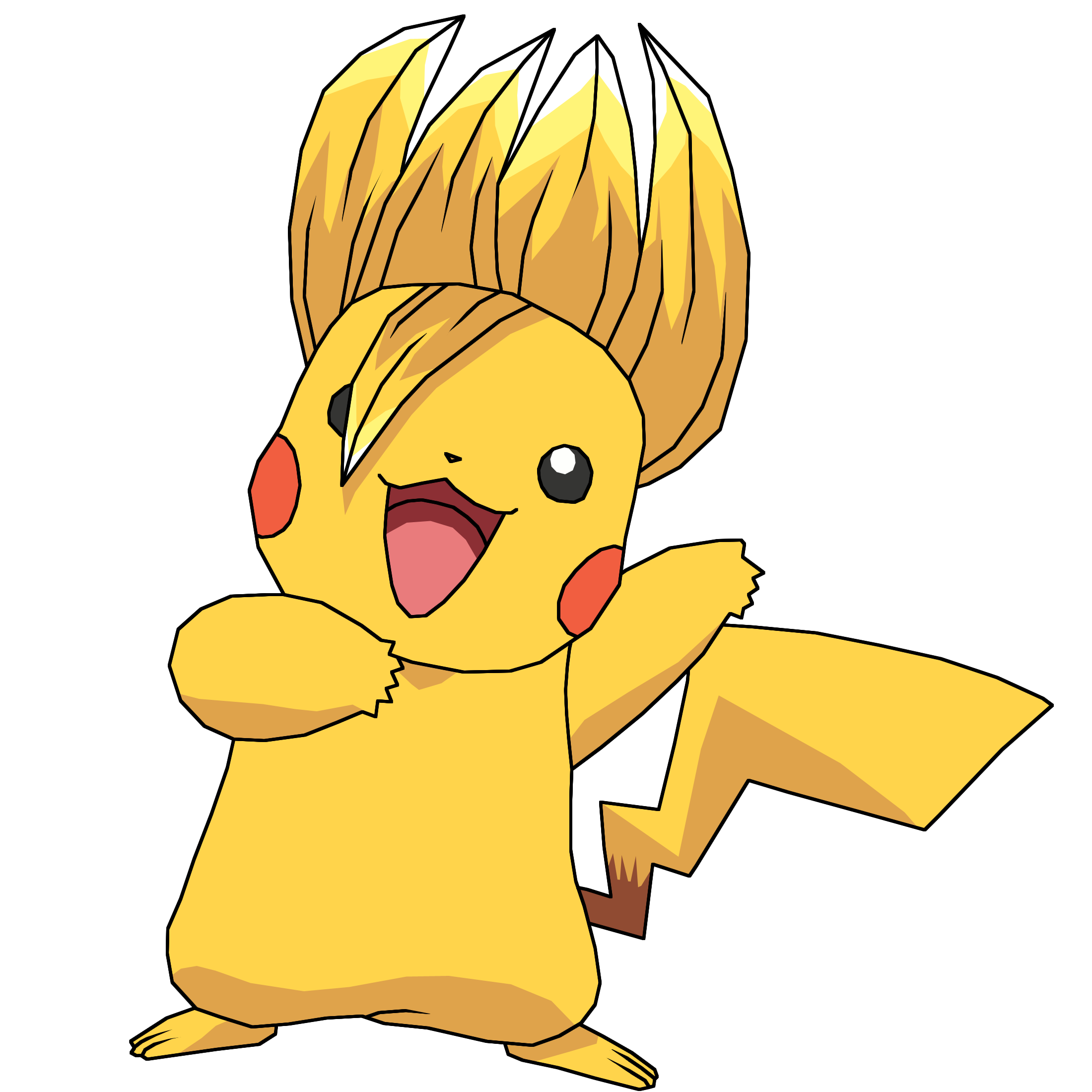 Shy clipart standing. Dragonball z and pikachu