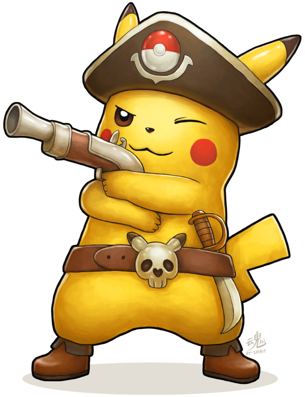 Captain pikachu by ry. Pokeball clipart face pokemon