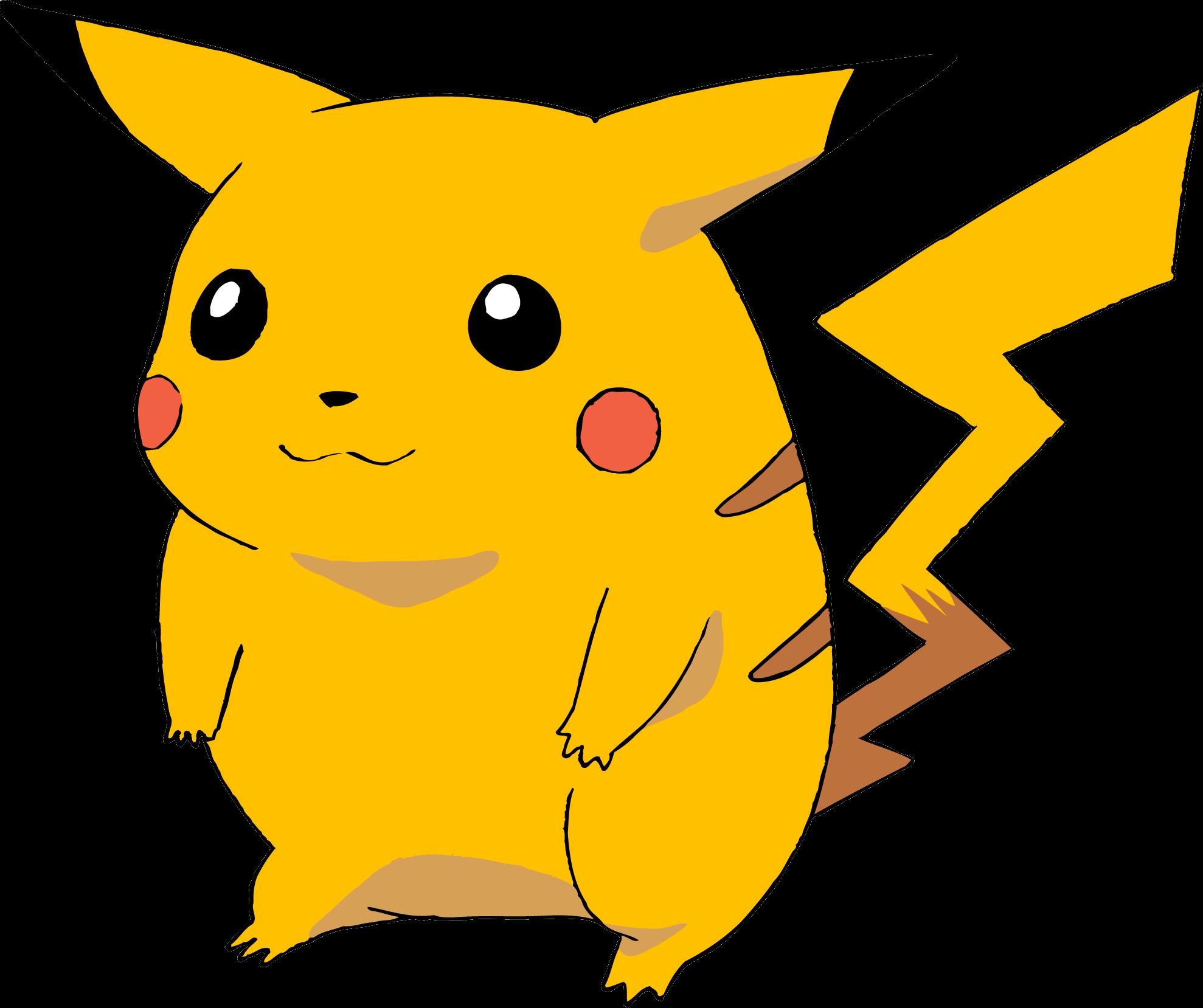 Pikachu clipart file. Pokemon png images transparent