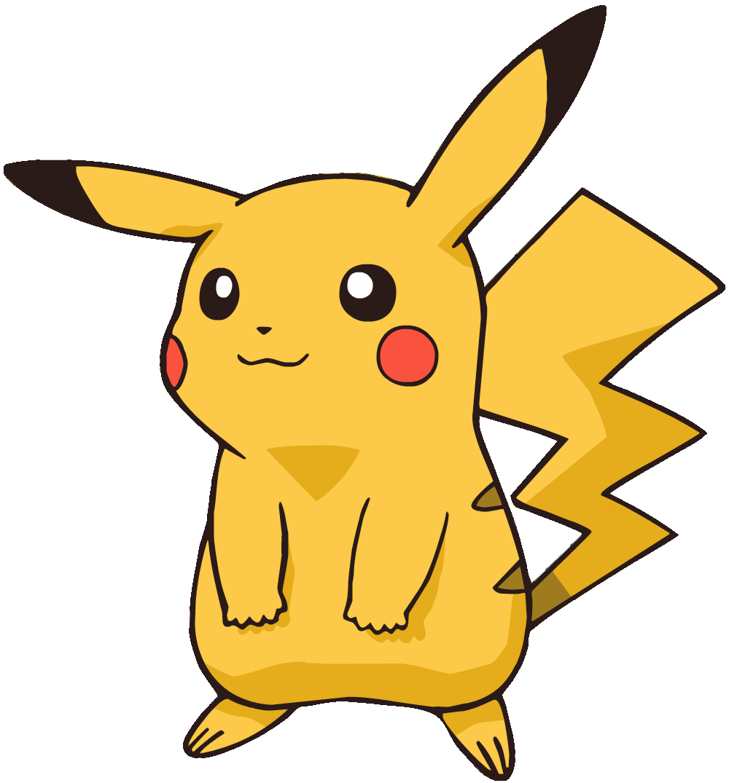 Image pikachu md shiny. Pokemon clipart outline