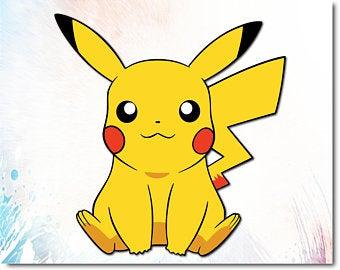Etsy . Pikachu clipart file