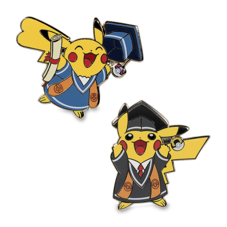 Pikachu clipart graduation. Pok mon pins pack