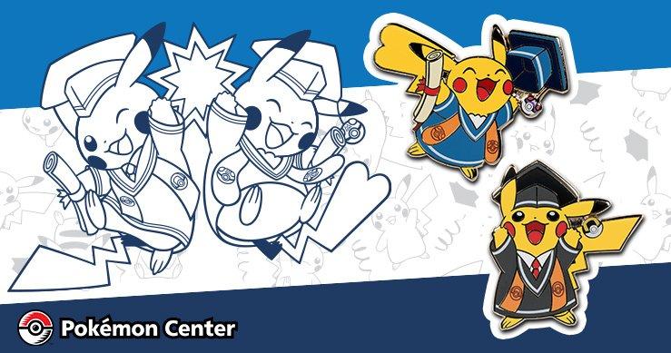 Pikachu clipart graduation. Pokemon pins now on