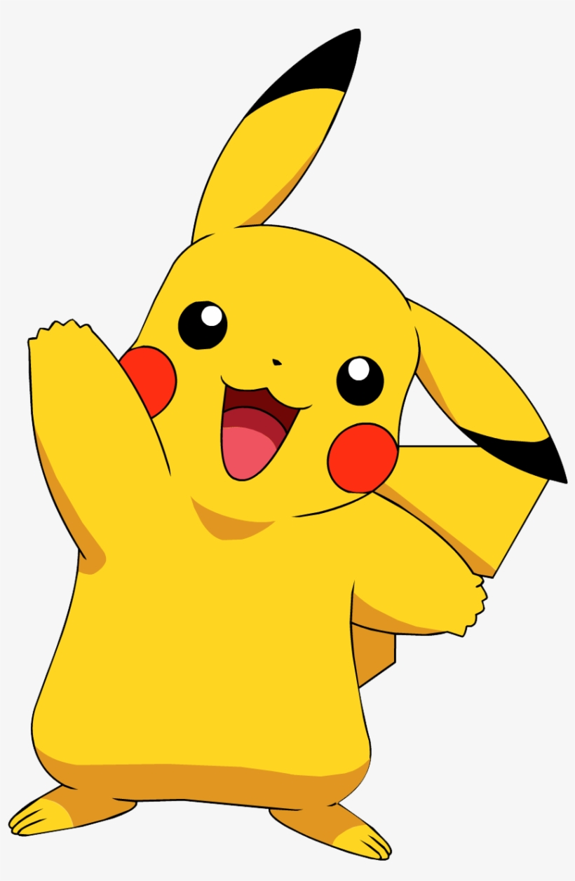 To print free images. Pikachu clipart happy
