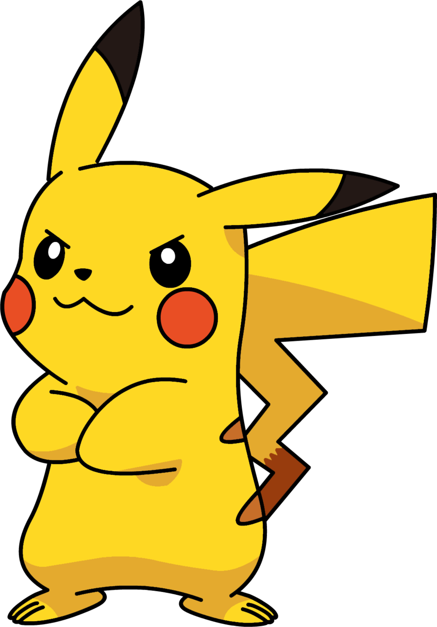 Not pokemon png . Pikachu clipart happy