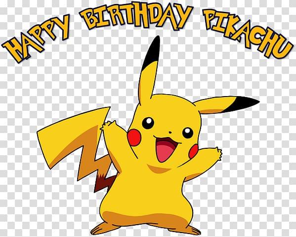 Pok mon go birthday. Pikachu clipart happy
