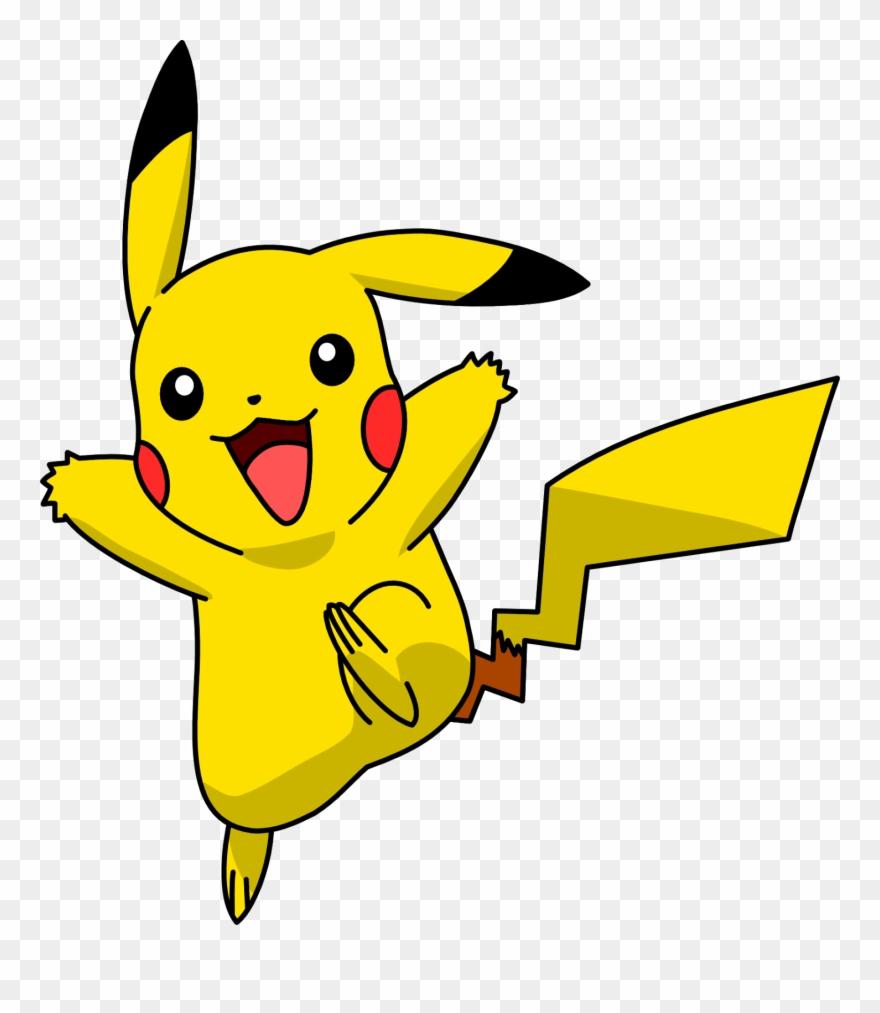 Pikachu high resolution waving. Pokemon clipart template