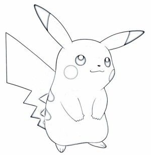 . Pokemon clipart black and white