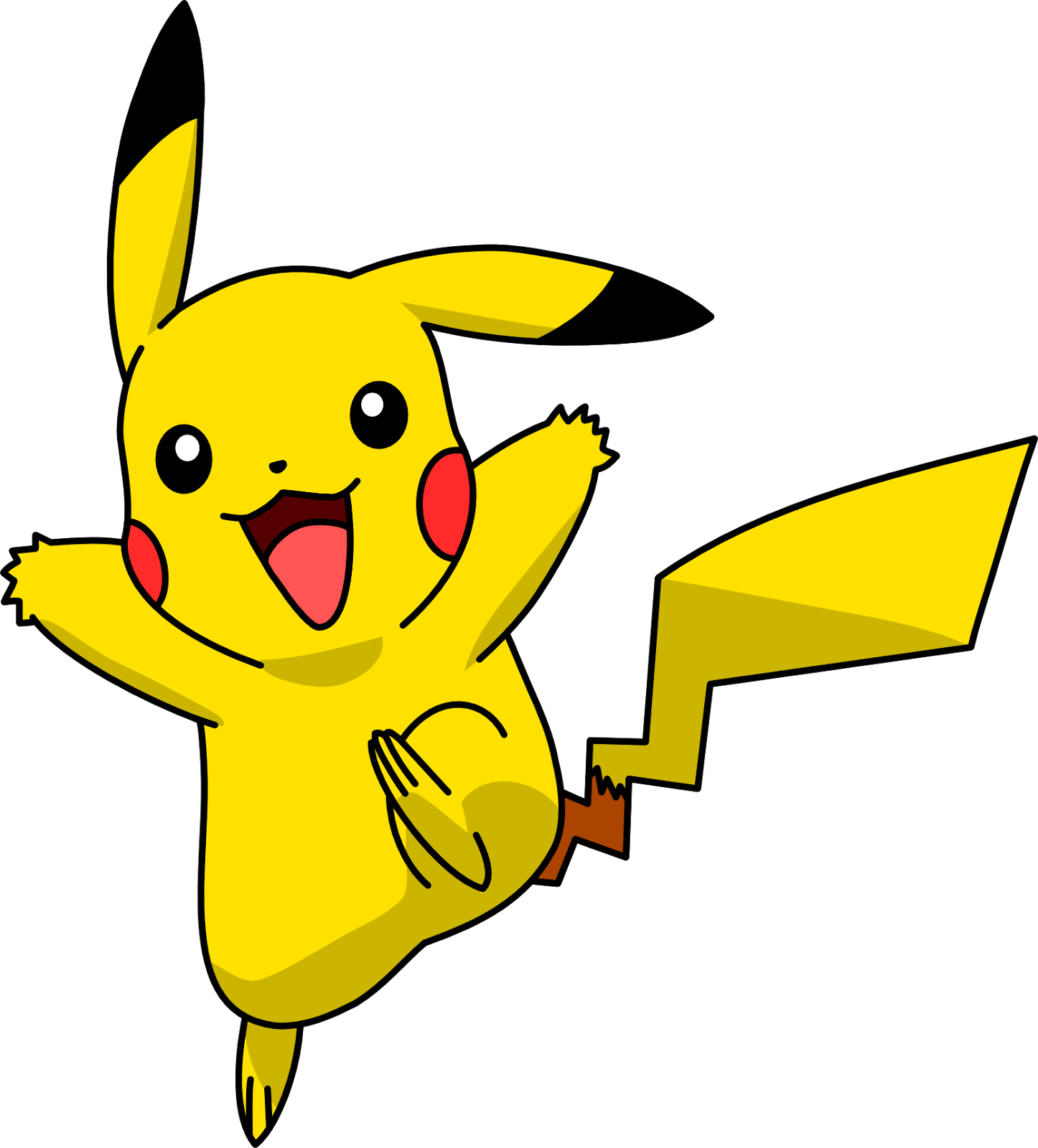 Black and white at. Pokemon clipart easy