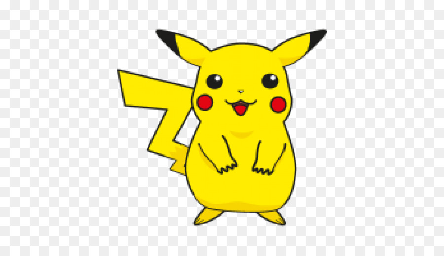Cartoon yellow line font. Pikachu clipart pdf