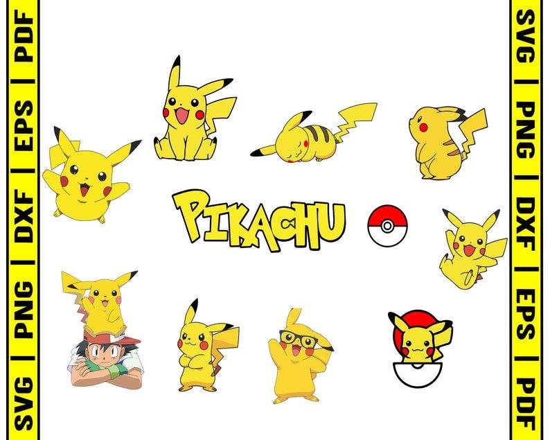 Svg png dxf eps. Pikachu clipart pdf