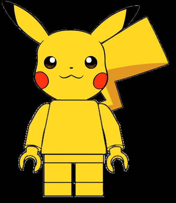 Pikachu clipart pdf. Lego minifig by theorangediamond