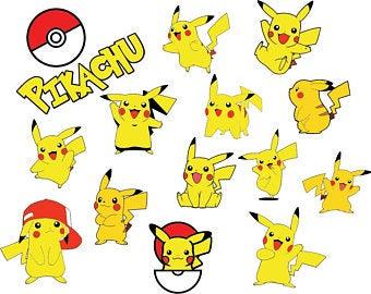 Pikachu clipart pdf. Art etsy